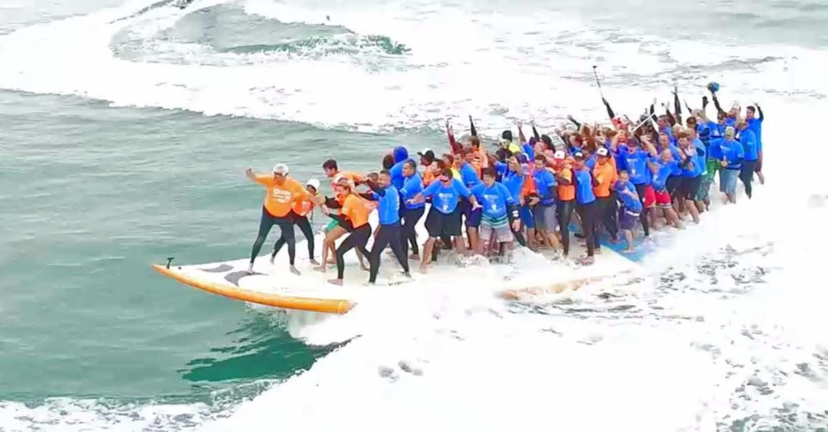 World's Largest Surfboard Makes Waves