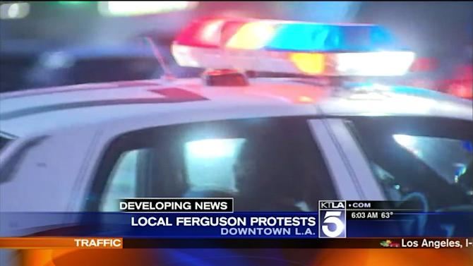 More Than 300 Arrested in Ferguson Protests in L.A.; Some Claim Mistreatment by LAPD