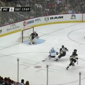 Marc-Andre Fleury Save on Patrick Marleau (02:23/1st)
