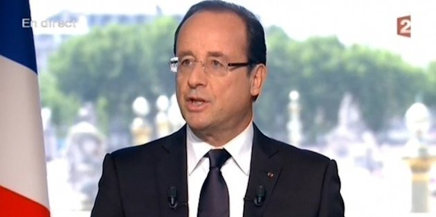 Interview de François Hollande le 14 juillet 2012 - Capture d'écran France 2 - Panoramique