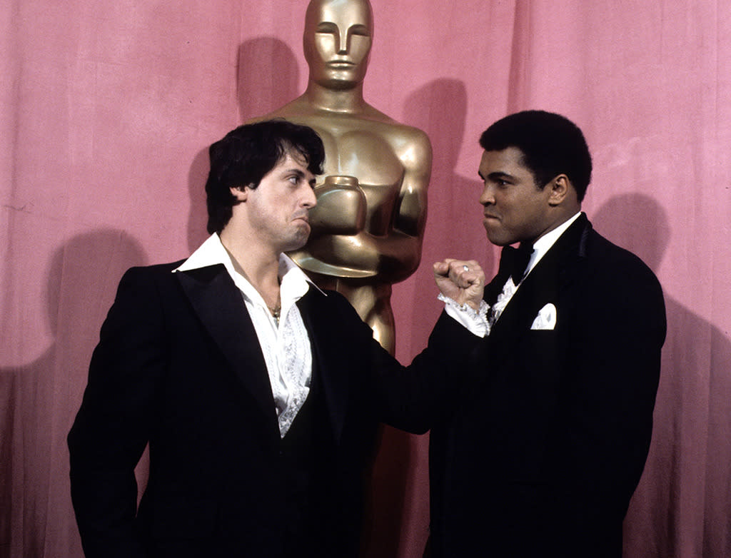 See Sylvester Stallone Punch-Pose with Other Famous Stars for 28 Years