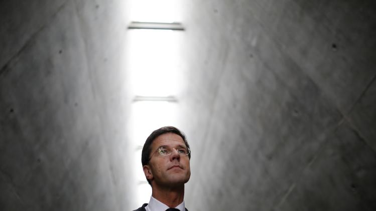 Mark Rutte, prime minister of the Netherlands, visits Yad Vashem's Holocaust History Museum in Jerusalem