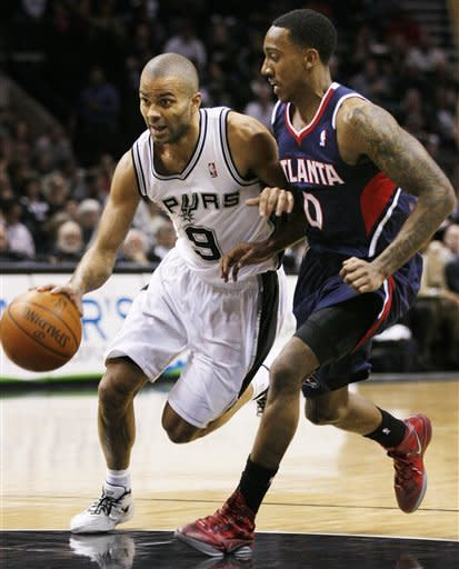 Bonner, Blair pace Spurs' 105-83 blowout of Hawks