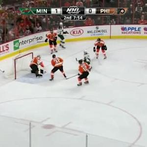 Ray Emery Save on Justin Fontaine (12:06/2nd)