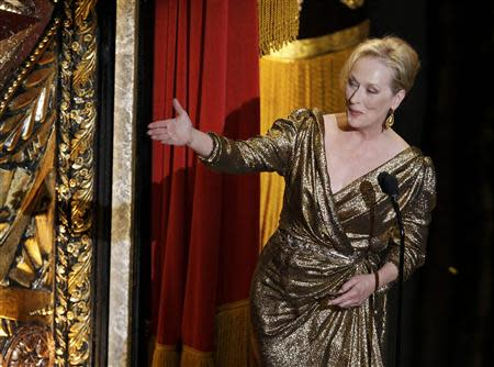 Actress Meryl Streep introduces the winners of the Academy's Governor's Awards to the audience at the 84th Academy Awards in Hollywood