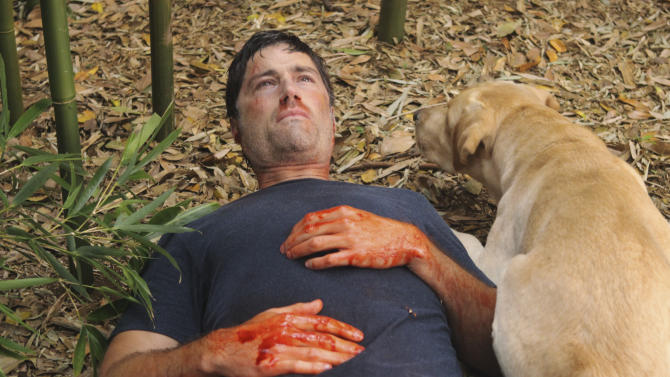 """In this publicity image released by ABC, Matthew Fox is shown in a scene from the series finale of """"Lost."""" (AP Photo/ABC, Mario Perez)"""