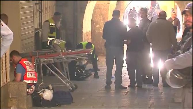 Israeli police shoot knife attacker