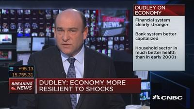Negative rate talk 'premature,' economy fine: Dudley