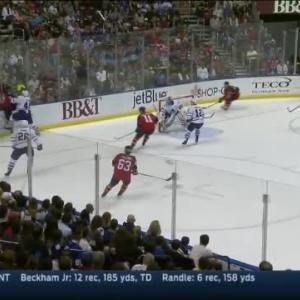 Roman Polak Hit on Brian Campbell (17:29/1st)