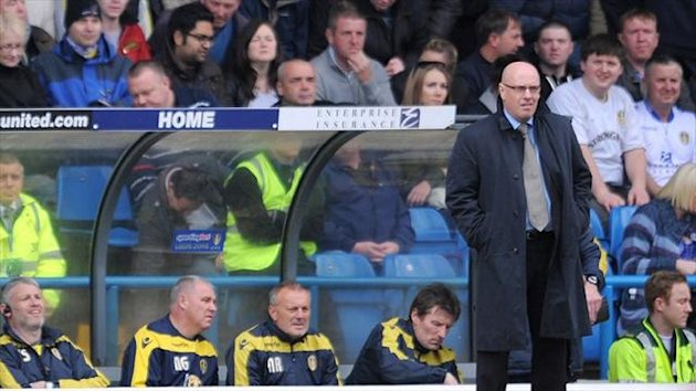 Brian McDermott takes charge of his first game as Leeds manager (PA Sport)