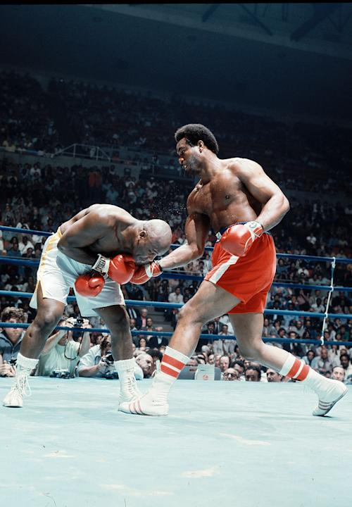 2. George Foreman TKO2 Joe Frazier, Jan. 22, 1973 – Frazier entered the bout as the champion, with a record of 29-0 with 25 knockouts. Foreman was 37-0 with 34 knockouts. It promised to be an action-p