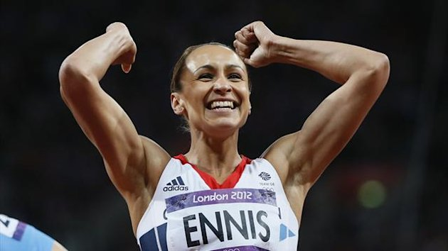 Jessica Ennis celebrates (Reuters)