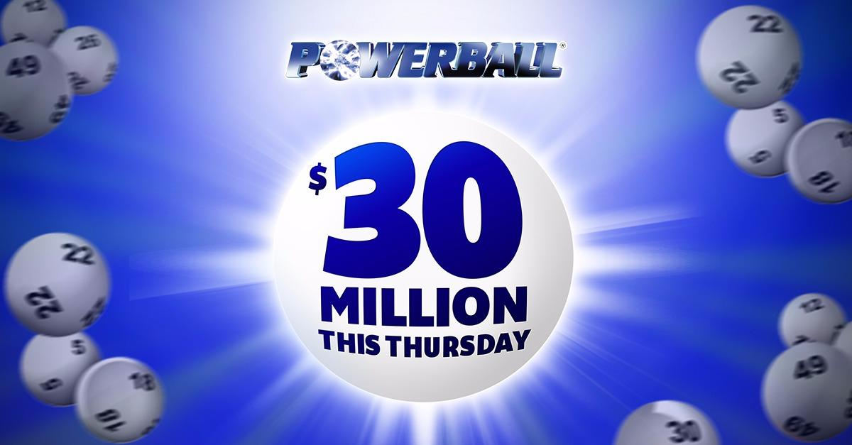 Hurry, $30,000,000 Powerball rolling your way!
