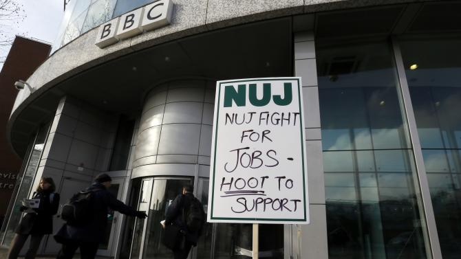 BBC journalists go on strike over job cuts
