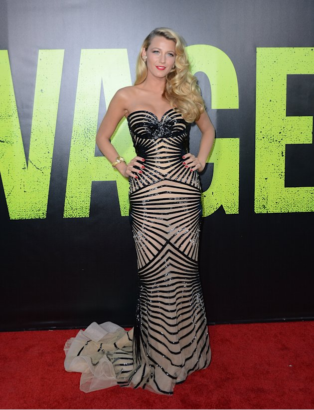"""Blake Lively in Zuhair Murad at the """"Savages"""" LA premiere"""
