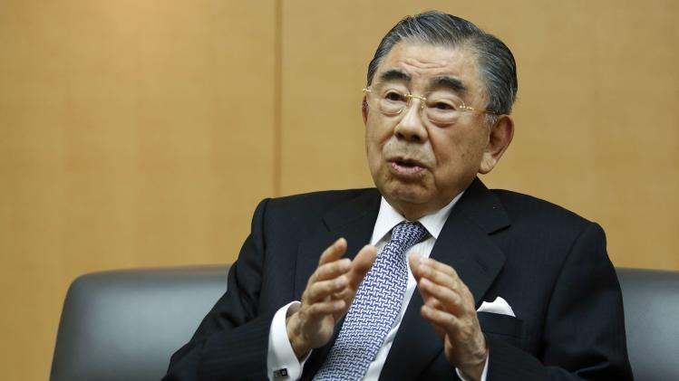 Suzuki, chairman and CEO of Seven And I Holdings Co Ltd speaks during an intewview with Reuters at its headquarters in Tokyo
