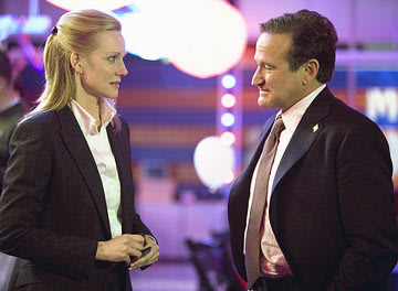 Laura Linney and Robin Williams in Universal Pictures' Man of the Year