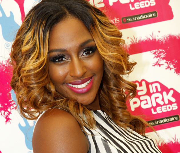 Alexandra Burke with blonde hair