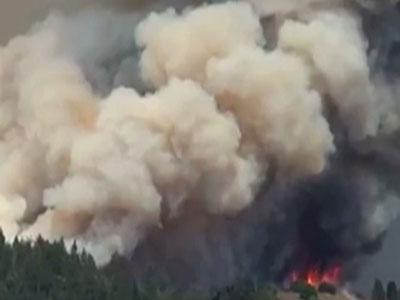 Raw: Huge Fire Near Yosemite National Park