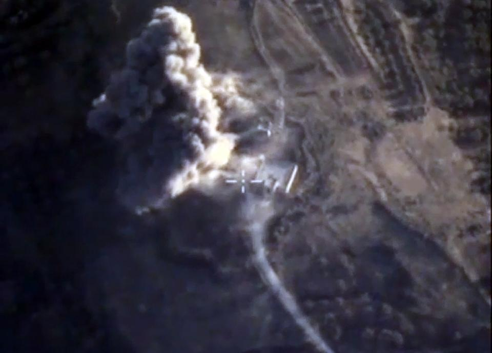Russia's Defence Ministry released images showing an airstrike carried out by its warplanes on an Islamic State facility in the Syrian province of...