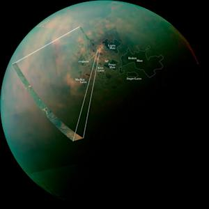 Spring on Saturn's Moon Titan Reveals Amazing Views of Otherworldly Lakes (Photos)