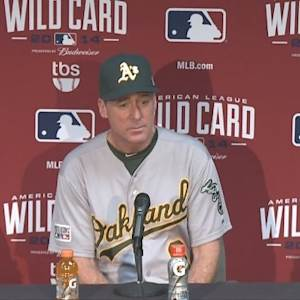 Raw Video: A's Manager Bob Melvin After Wild Card Loss