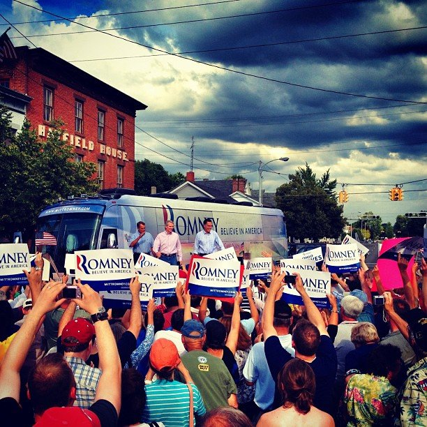 Boehner, Portman and Romney in Troy, OH