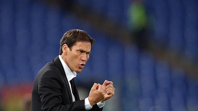 AS Roma coach Rudi Garcia, seen during an Italian Serie A match at the Olympic stadium in Rome, on April 25, 2014