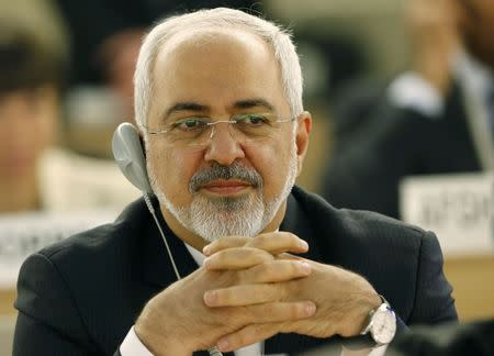 Iranian Foreign Minister Mohammad Zarif attends Human Rights Council at UN in Geneva