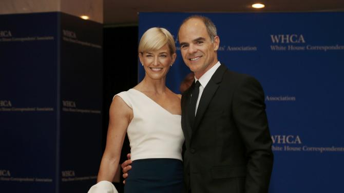 Actor Kelly and wife Karyn arrive for the annual White House Correspondents' Association dinner in Washington