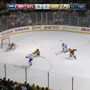 Pekka Rinne Save on Pierre-Alexandre Parenteau (13:02/1st)