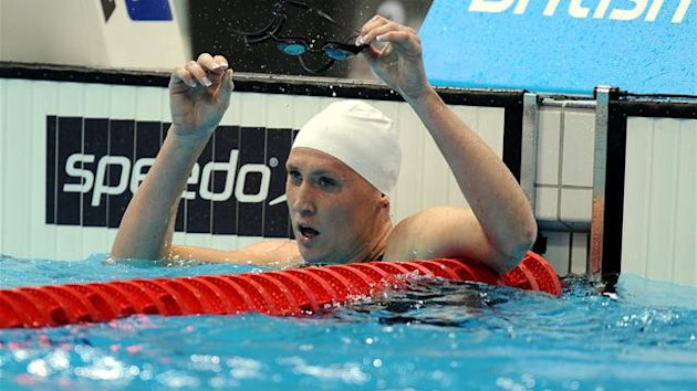 Gemma Spofforth during the Women's 100m Backstroke Final