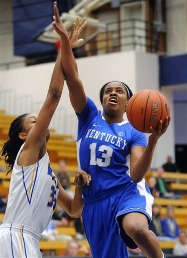 Mathies leads No. 7 Kentucky women past UCSB 66-38