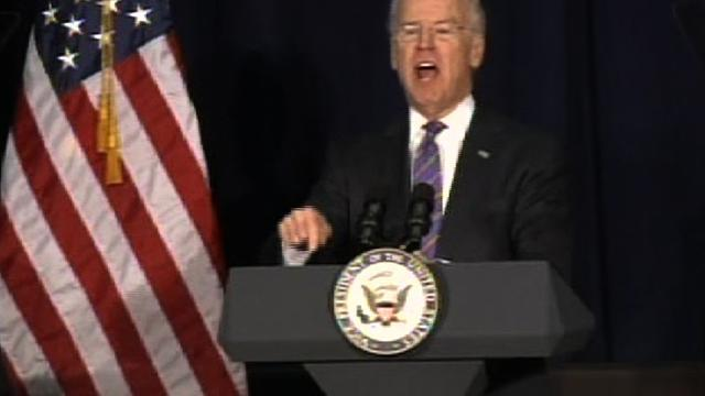 "Biden on violence debate: ""It is about guns"""
