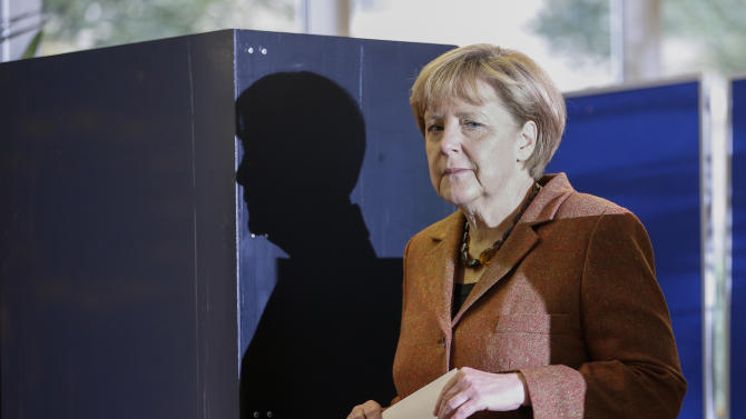 Exit poll: Merkel party strongest in German vote