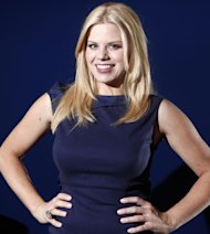 File- In this Feb. 27, 2012 file photo, actress Megan Hilty poses for a portrait in New York. Hilty wrapped her second, and possibly final, season of the TV musical Smash. A day later, she sang to a sold-out house, marking her Carnegie Hall headlining debut. Since early this week, she&#39;s been racing around New York, getting the word out of her first solo album, It Happens All the Time, which was released March 12, 2013. (AP Photo/Carlo Allegri, File)