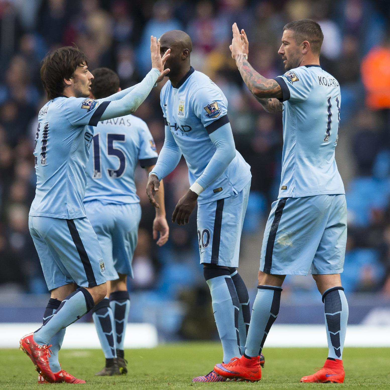 Man City leaves it late to beat Aston Villa 3-2 in EPL