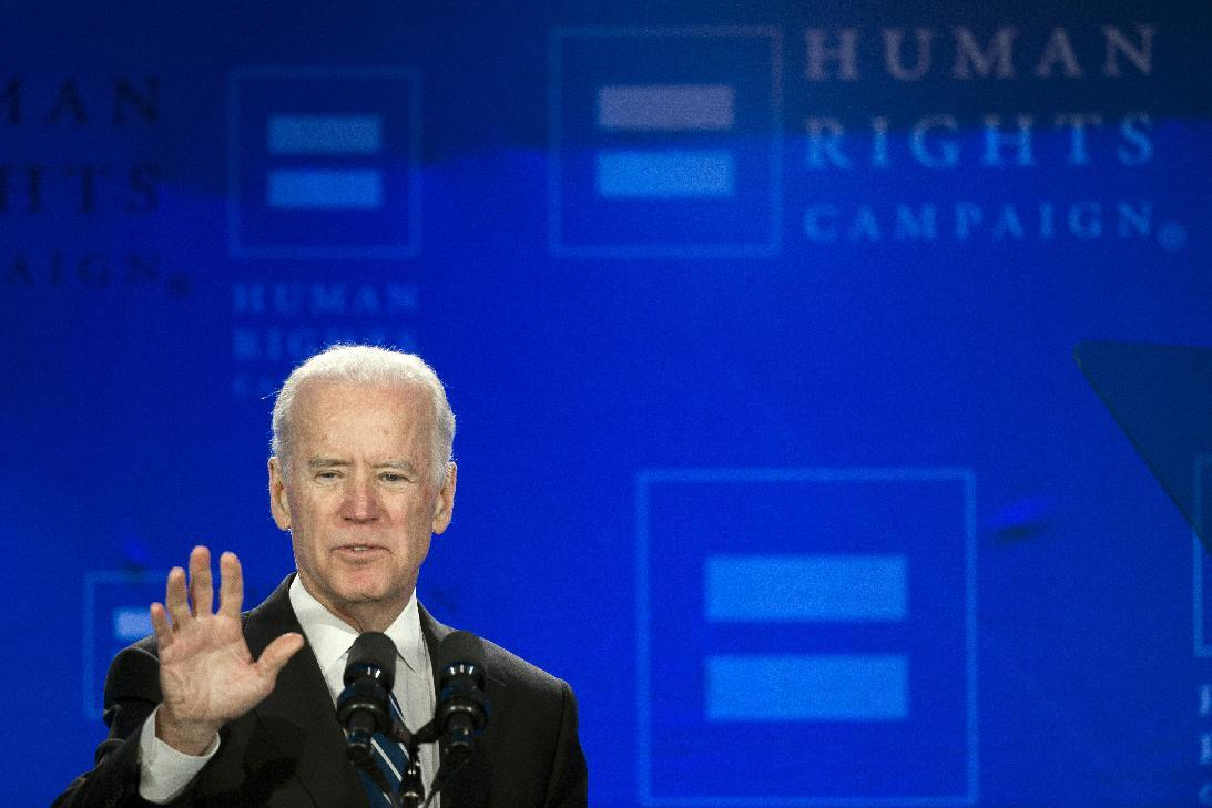 50 years after Selma, Biden ties gay rights to civil rights