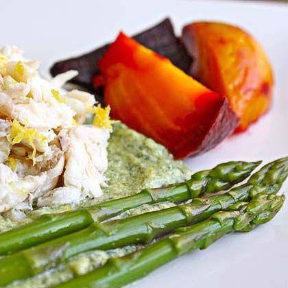 Chilled Crab, Asparagus, and Beet Salad