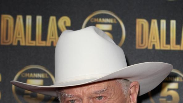 Larry Hagman arrives at the launch party for the new Channel 5 television series of 'Dallas' at Old Billingsgate, London, on August 21, 2012  -- Getty Images