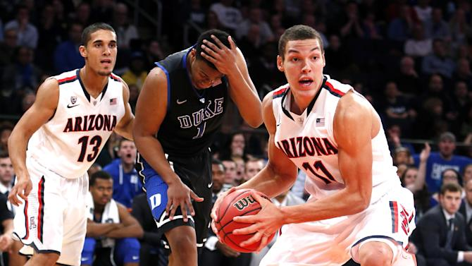 No. 4 Arizona beats No. 6 Duke 72-66