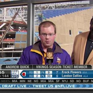 Minnesota Vikings pick tight end MyCole Pruitt No. 143 in 2015 NFL Draft