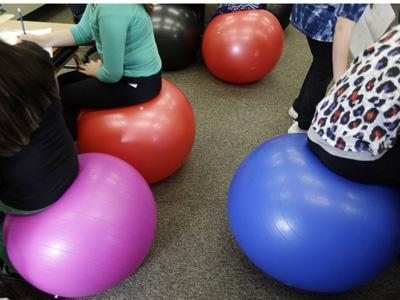 Exercise Gear Turned Office Furniture