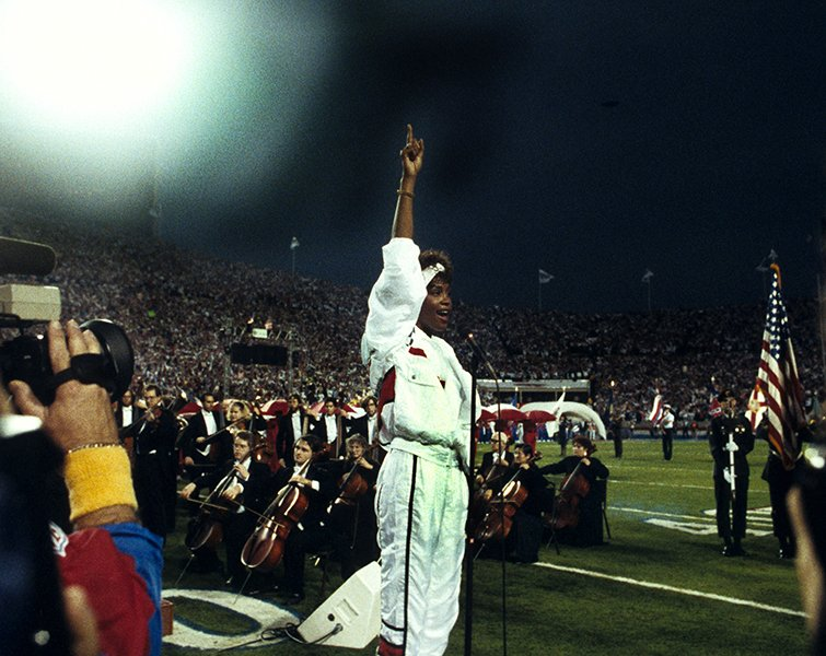 Performing the National Anthem at Super Bowl XXV in 1991