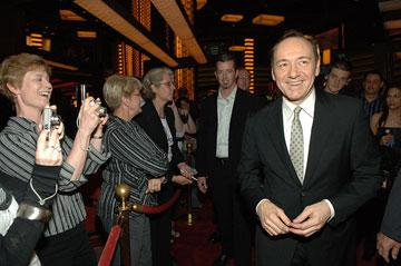 Kevin Spacey at the Las Vegas premiere of Columbia Pictures' 21