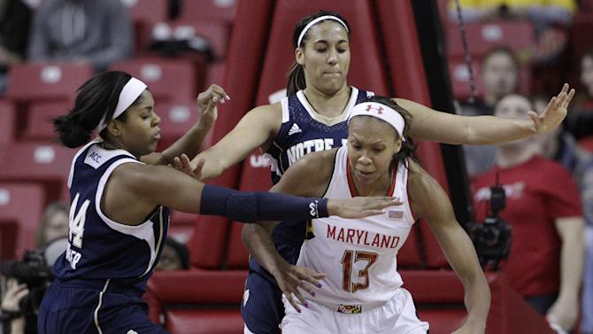 No. 2 Notre Dame women defeat No. 8 Maryland 87-83