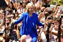 Former Secretary of State Hillary Clinton officially launches her campaign for the Democratic presidential nomination during a speech on Roosevelt Island on June 13, 2015 in New York