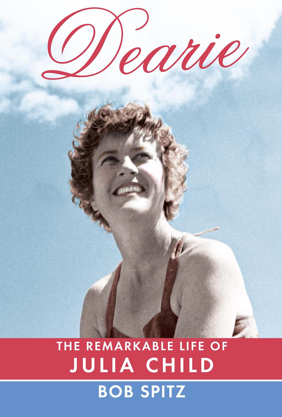 "This book cover image released by Alfred A. Knopf shows ""Dearie: The Remarkable Life of Julia Child"" by Bob Spitz. (AP Photo/ Alfred A. Knopf)"