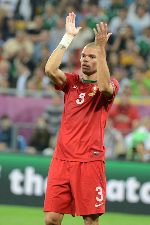 Portuguese Defender Pepe Applauds AFP/Getty Images