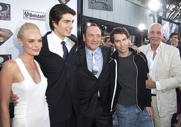 Premiere: Kate Bosworth, Brandon Routh, Kevin Spacey, director Bryan Singer and Frank Langella at the Westwood premiere of Warner Bros. Pictures' Superman Returns - 6/21/2006